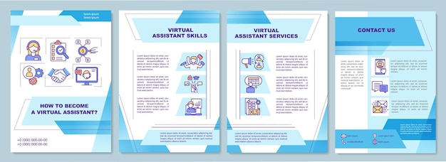 Virtual assistant job brochure template