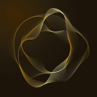 Virtual assistant technology vector irregular circle shape in gold
