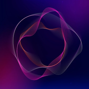 Virtual assistant technology vector irregular circle shape in pink