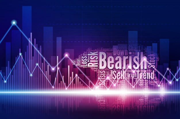 Virtual bear walking in the town of stock market