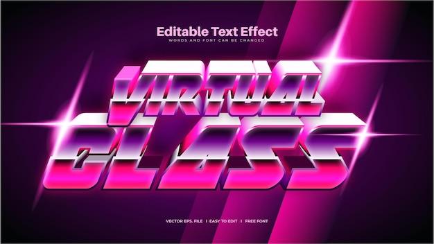 Virtual class text effect