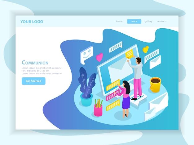 Virtual communication landing page