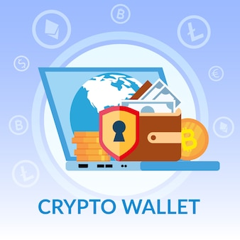 Virtual crypto wallet