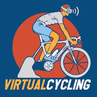 Virtual cycling bike
