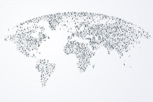 Virtual of digital world community and internet connection