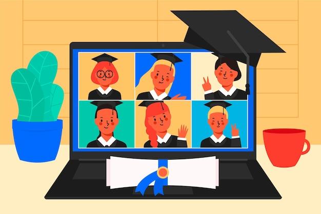 Концепция виртуальной выпускной церемонии