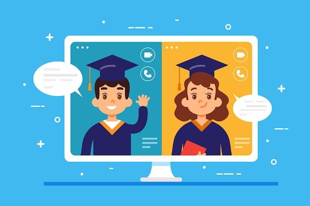Виртуальная выпускная церемония с выпускниками