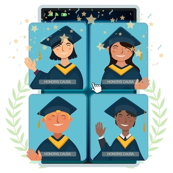 Виртуальная выпускная церемония с учеными