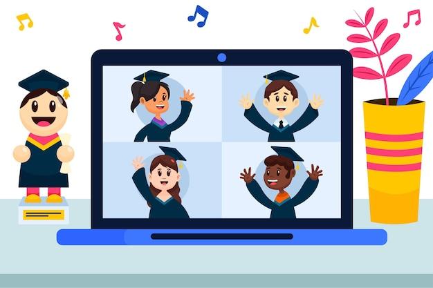 Cerimonia di laurea virtuale
