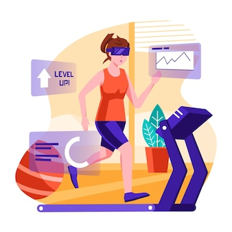 Virtual gym activity concept