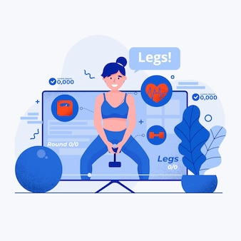 Virtual gym app illustration