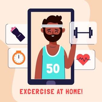 Virtual gym concept