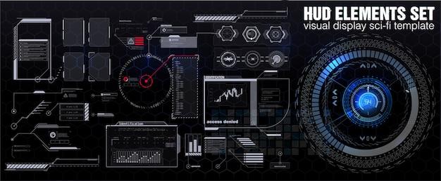 Scifiスタイルの仮想インターフェイスコールアウトのタイトルとフレーム