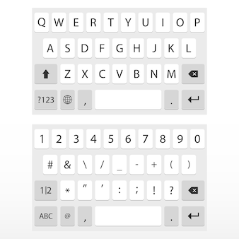 Virtual keyboard for mobile phone