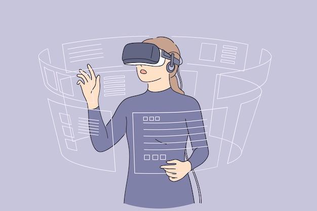 가상 현실 및 첨단 기술 개념