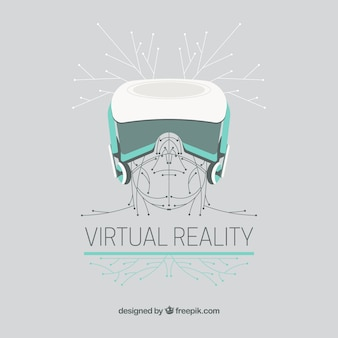 Virtual reality drawing background