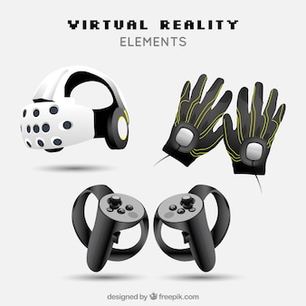 Virtual reality elements in realistic style
