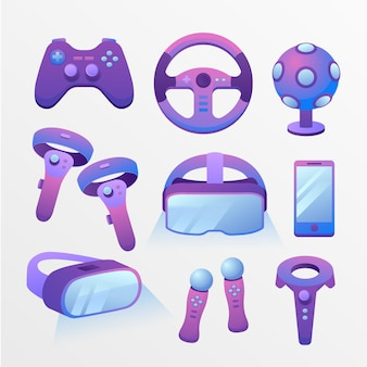 Virtual reality equipment illustration