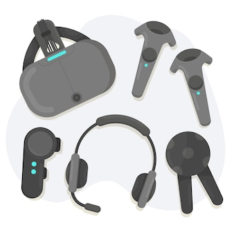 Virtual reality equipment set