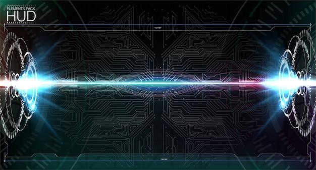 Виртуальная реальность футуристический дизайн проекционного дисплея vr