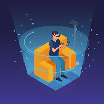 Virtual reality glasses technology
