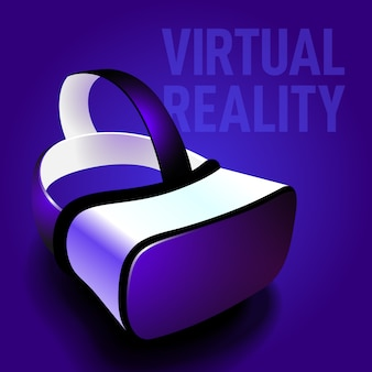 Virtual reality headset glasses realistic