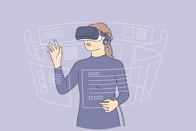 Virtual reality and high technologies concept