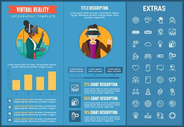 가상 현실 infographic 템플릿 및 요소