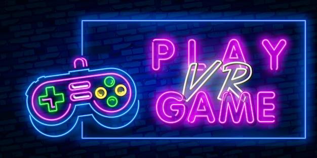 Virtual reality neon sign