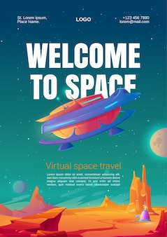 Virtual space travel flyer