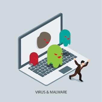 ウイルスとマルウェアの保護