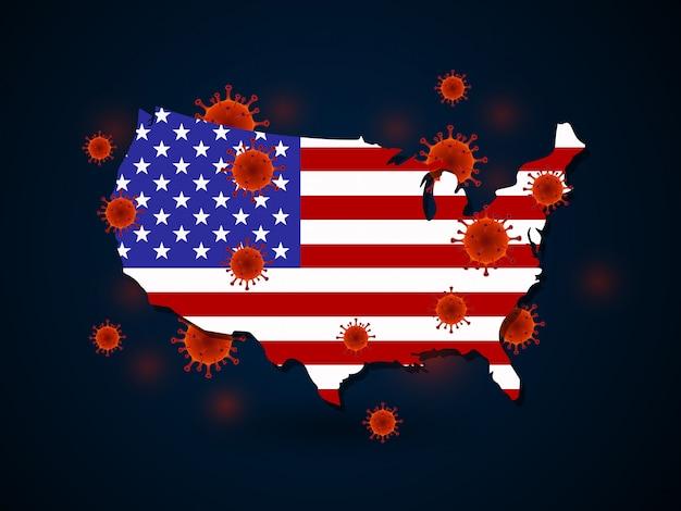 미국 주변의 바이러스