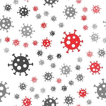 Virus background. bacteria seamless pattern.