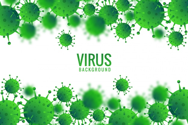 Virus or bacteria infection background