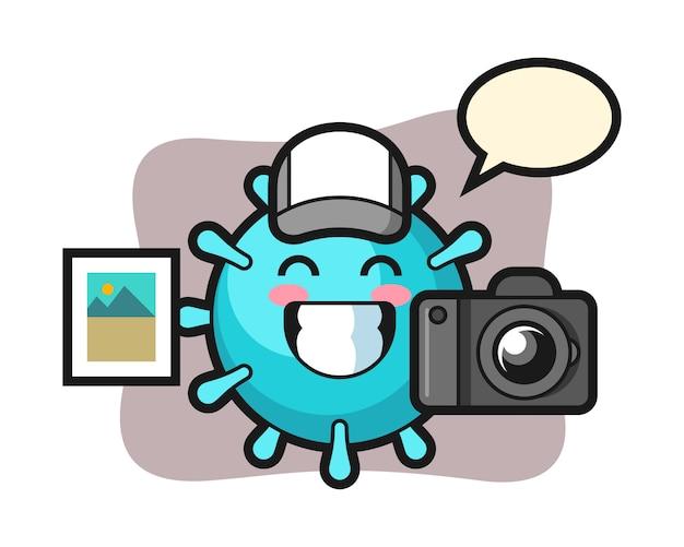 写真家としてのウイルス漫画