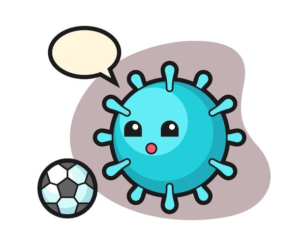 Вирусный мультфильм играет в футбол