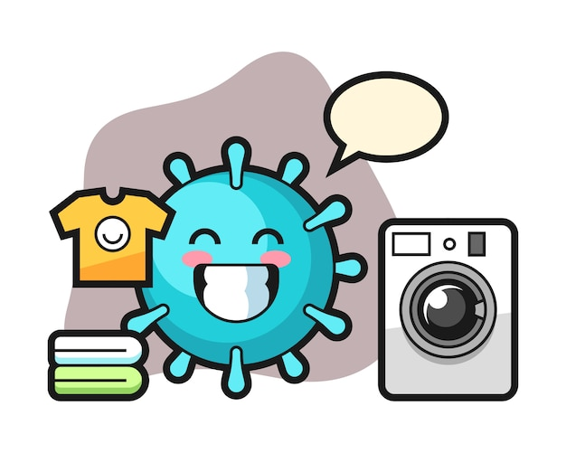 Вирус мультфильм со стиральной машиной