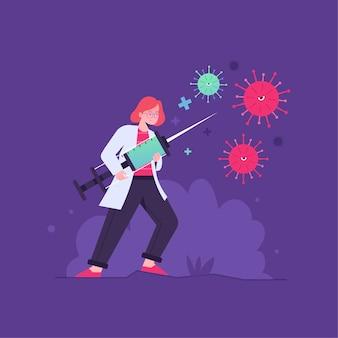 Concetto di cura del virus