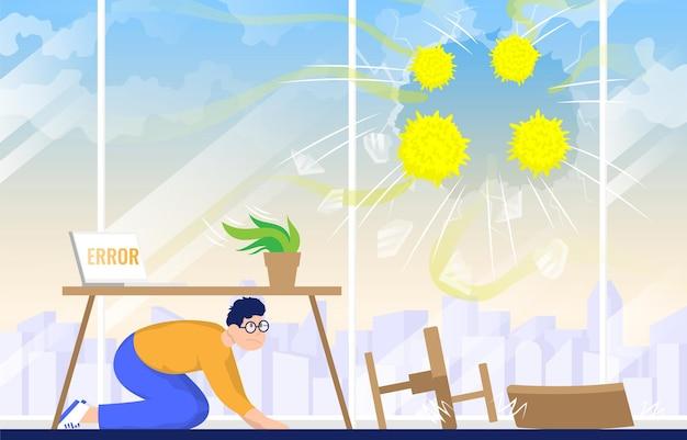 Вирус наносит ущерб бизнесу концепция карантина эпидемии коронавируса эпидемии коронавируса