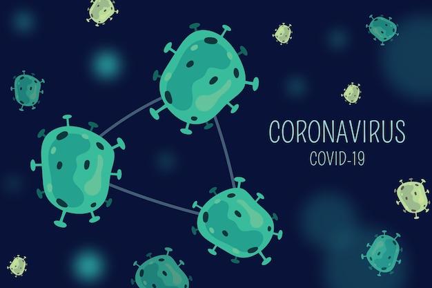 Virus design concetto di coronavirus