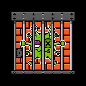 Вирусный дизайн заключен в тюрьму