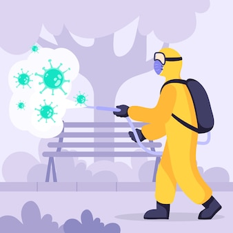 Virus disinfection concept