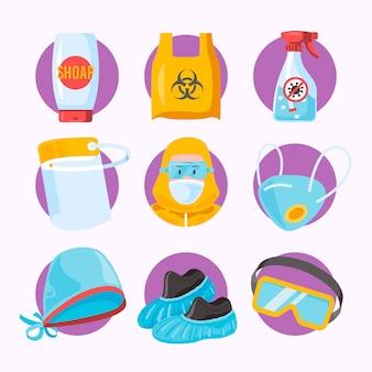 Raccolta di elementi di protezione delle apparecchiature antivirus