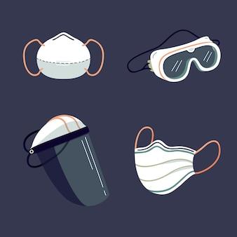 Коллекция элементов защиты вирусного оборудования