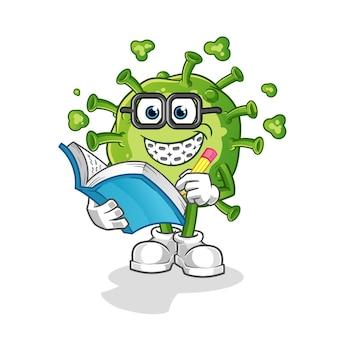 Virus geek cartoon. cartoon mascot