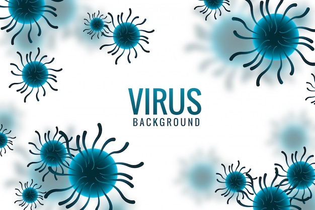 Virus infection or bacteria concept design