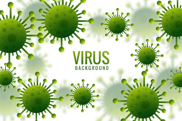 Virus infection or bacteria flu background