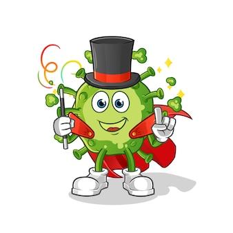 Virus magician illustration