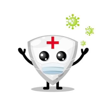 ウイルスマスクシールドかわいいキャラクターマスコット