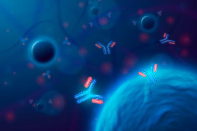 Sfondo di particelle di virus